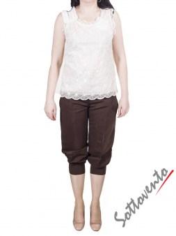 Брюки коричневые  I'M Isola Marras 301273. Image 2