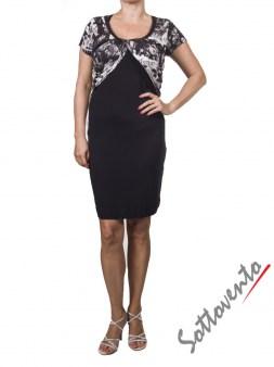 Платье  чёрно-белое Richmond 4021. Image 0