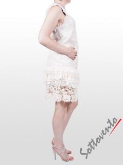 Юбка белая с кружевом  Valentino Red GN8AA Image 4