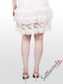 Юбка белая с кружевом  Valentino Red GN8AA Image 2