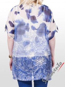 Рубашка бело-синяя  Ki6? Who are you? СМ58. Image 1