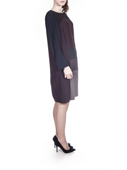 Платье серо-чёрно-бордо  I'M Isola Marras 321295. Image 2