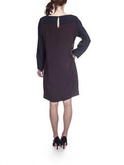 Платье серо-чёрно-бордо  I'M Isola Marras 321295. Image 1