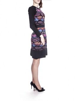 Платье цветное с чёрной отделкой Missoni M DDA9AONO Image 2
