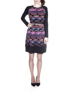 Платье цветное с чёрной отделкой Missoni M DDA9AONO Image 0