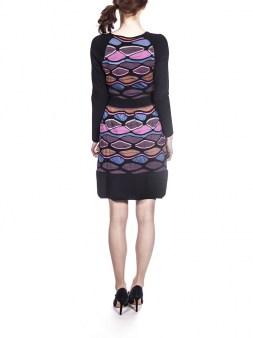 Платье цветное с чёрной отделкой Missoni M DDA9AONO Image 1