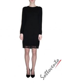 Платье  чёрное с кружевом Ki6? Who are you? MG58. Image 0