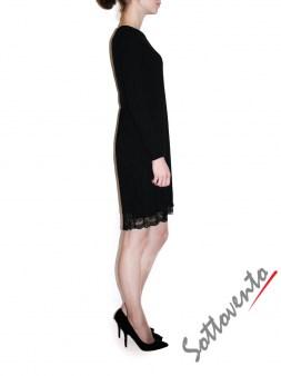 Платье  чёрное с кружевом Ki6? Who are you? MG58. Image 2