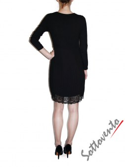 Платье  чёрное с кружевом Ki6? Who are you? MG58. Image 1