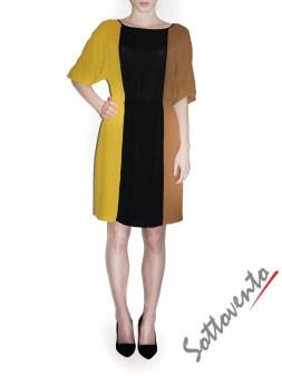 Платье чёрно-жёлто-коричневое  Ki6? Who are you? AV87. Image 3