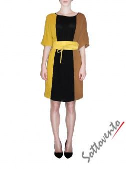 Платье чёрно-жёлто-коричневое  Ki6? Who are you? AV87. Image 1