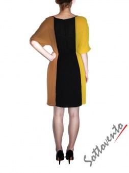 Платье чёрно-жёлто-коричневое  Ki6? Who are you? AV87. Image 2