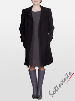 Пальто тёмно-коричневое Blugirl Folies 0609. Image 3