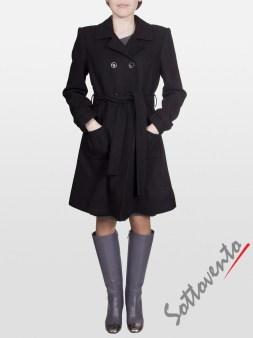 Пальто тёмно-коричневое Blugirl Folies 0609. Image 0