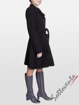 Пальто тёмно-коричневое Blugirl Folies 0609. Image 2