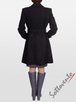 Пальто тёмно-коричневое Blugirl Folies 0609. Image 1