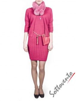 Воротник розовый  Blugirl Folies 3307. Image 2