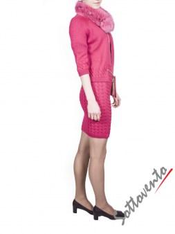 Воротник розовый  Blugirl Folies 3307. Image 3