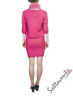 Воротник розовый  Blugirl Folies 3307. Image 4