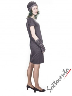 Шапка+перчатки  серые Blugirl Folies 2103. Image 2