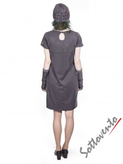 Шапка+перчатки  серые Blugirl Folies 2103. Image 4