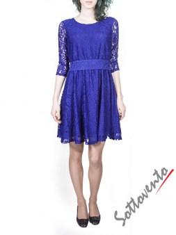 Платье синее из гипюра Blugirl Folies 3919. Image 0