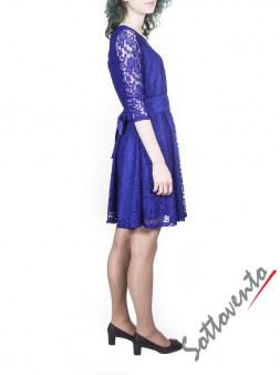 Платье синее из гипюра Blugirl Folies 3919. Image 2
