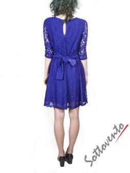 Платье синее из гипюра Blugirl Folies 3919. Image 1