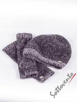 Шапка+перчатки  серые Blugirl Folies 2103. Image 0