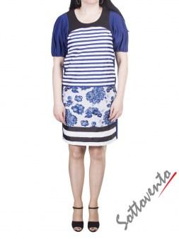 Платье сине-чёрно-белое I'M Isola Marras 321336. Image 1