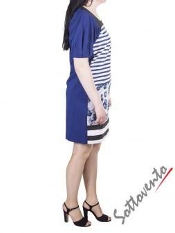 Платье сине-чёрно-белое I'M Isola Marras 321336. Image 3
