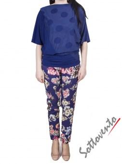 Брюки синие с цветами I'M Isola Marras 301278. Image 6