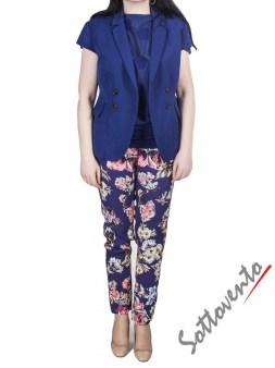 Брюки синие с цветами I'M Isola Marras 301278. Image 7