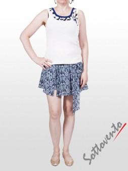 Юбка-шорты бело-синяя Faith Image 3