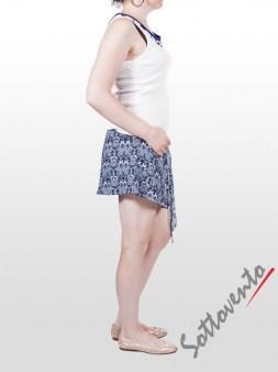 Юбка-шорты бело-синяя Faith Image 4