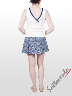 Юбка-шорты бело-синяя Faith Image 5