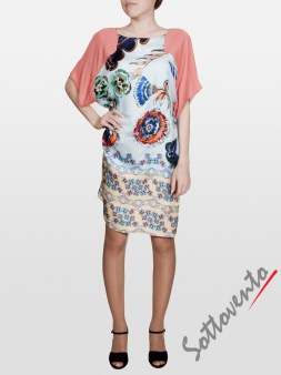 Платье розово-голубое  I'M Isola Marras 321346. Image 0