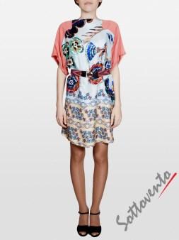 Платье розово-голубое  I'M Isola Marras 321346. Image 3