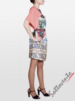Платье розово-голубое  I'M Isola Marras 321346. Image 4
