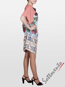 Платье розово-голубое  I'M Isola Marras 321346. Image 2