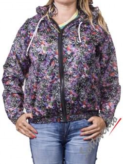 Ветровка чёрно-розово-фиолетовая  MSGM MDH31028. Image 0