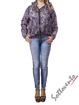 Ветровка чёрно-розово-фиолетовая  MSGM MDH31028. Image 2