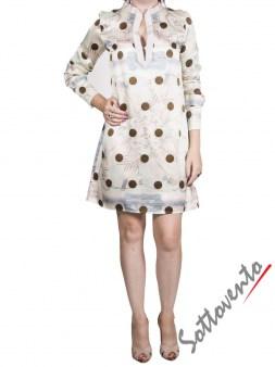 Платье серое в горох  Coast Weber 65497. Image 3