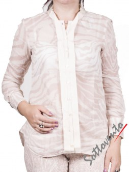 Рубашка бежево-белая  Coast Weber 55828. Image 1