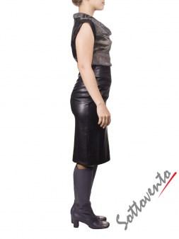 Платье серо-чёрное MALLONI 20232. Image 2