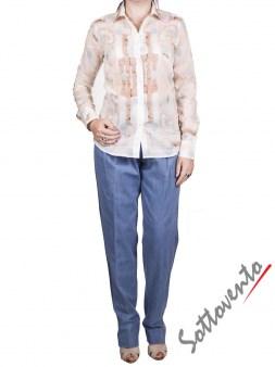 Рубашка бело-голубая Coast Weber 55820-09648. Image 3