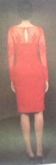 Платье красное с гипюром Meher&Riddhima A1510 Image 1