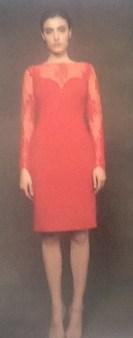 Платье красное с гипюром Meher&Riddhima A1510 Image 0