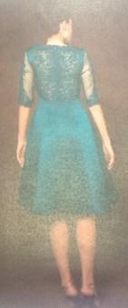 Платье зеленое с гипюром Meher&Riddhima A28 Image 1
