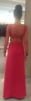 Платье розовое с гипюром Meher&Riddhima A1558 Image 1